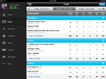 My Fitness Pal for iPad